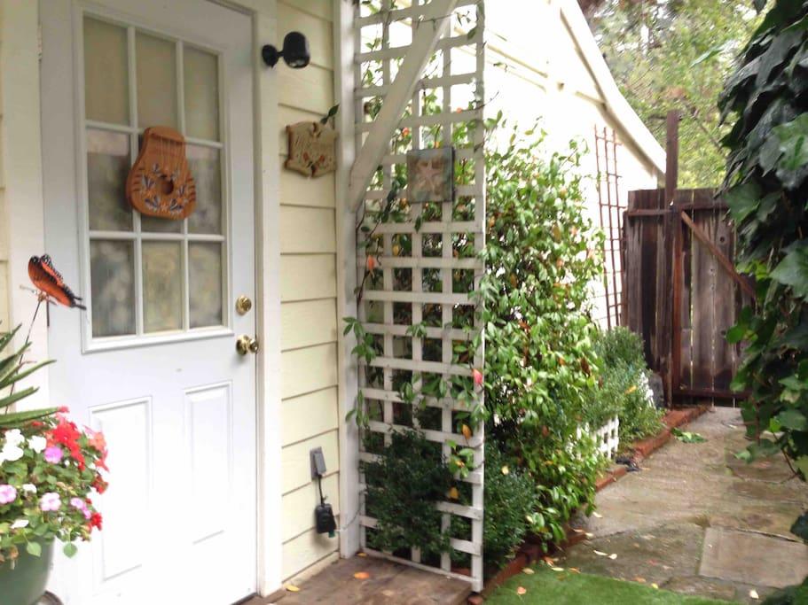 Your front porch and front door and Norwegian door chime!!