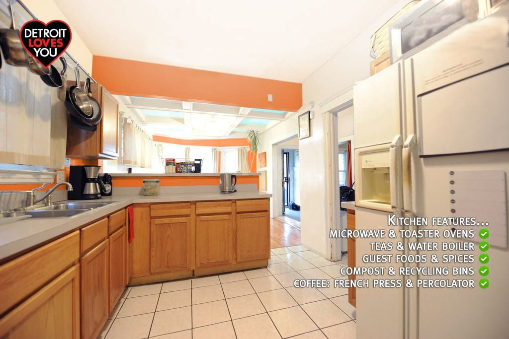 Kitchen (1st floor) - spacious and well stocked for your use