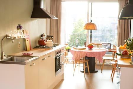 Light & cosy family apartment in hip city area - Wohnung