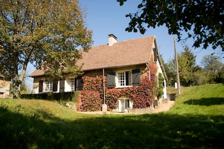Historische boerderij met schitterende schuren - Château-Chervix - Huis