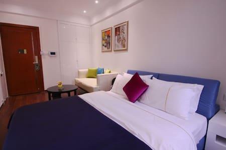 地铁附近,公园旁边的1.8米宽的舒适大床的高层公寓 - Foshan - Wohnung