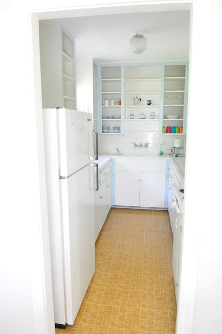 Very efficient Galley-shaped kitchen.