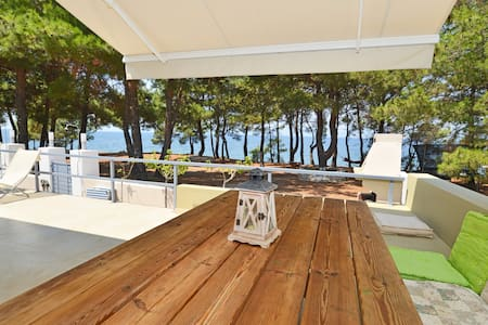 first line to the sea, modern villa - Thasos