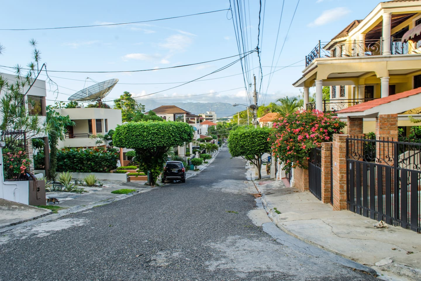 Street View from the house - downhill.