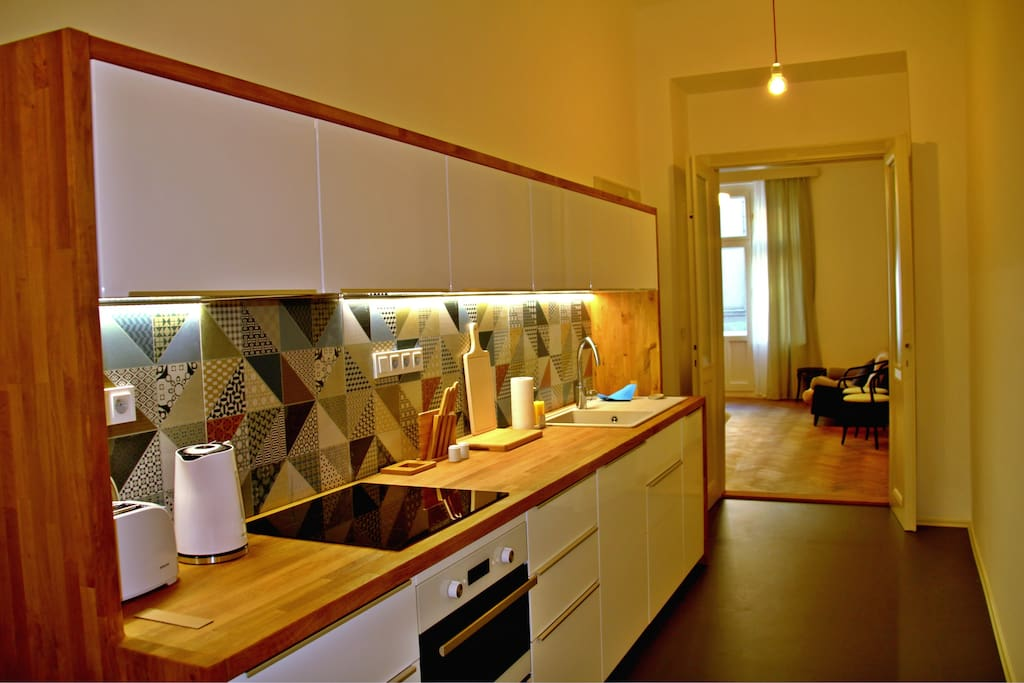 Shared kitchen with all amenities.