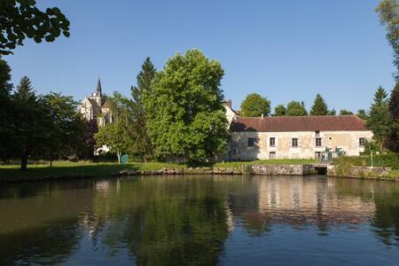 Chambre Rose au Vieux Moulin - Mareuil-sur-Ourcq - Bed & Breakfast