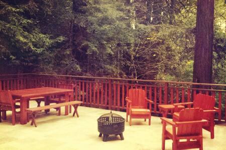 Magical Lodge-Style Redwood Retreat