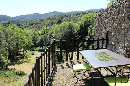 Gite  WIFI jolie vue jardin Aude Pays Cathare - Laroque-de-Fa - Ev