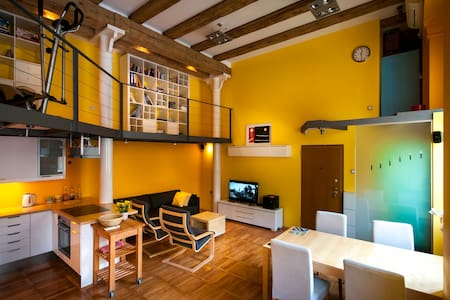 Spacious LOFT in center with SAUNA and parking - Lubiana