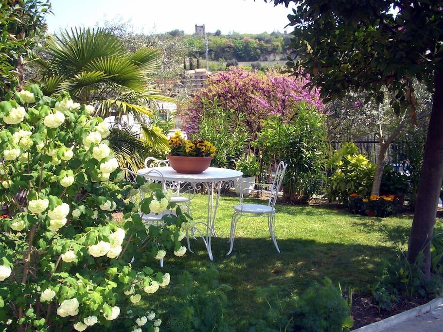 giardino con vista mura scaligere