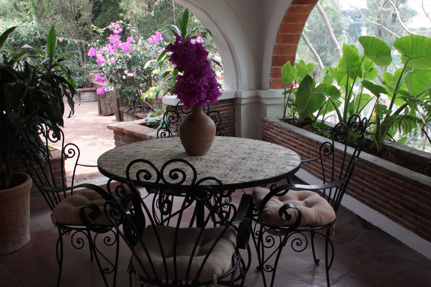 Terraza con parrilla/ View of covered Terrace.
