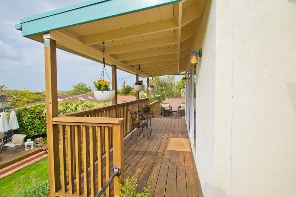 Guest House front deck.