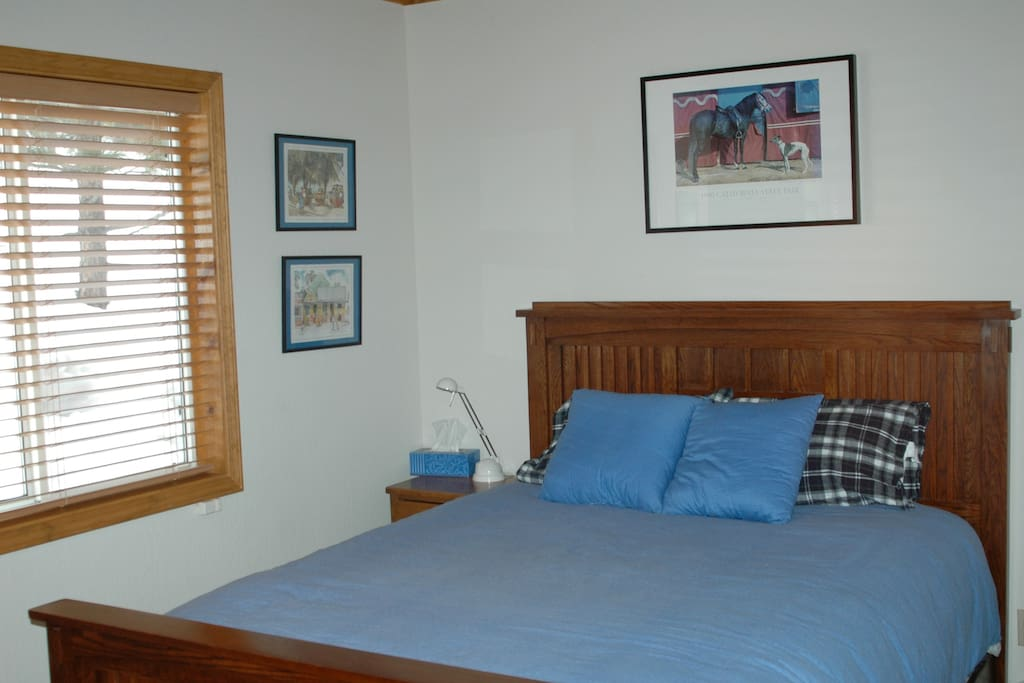 Middle Blue Bedroom with Queen Bed