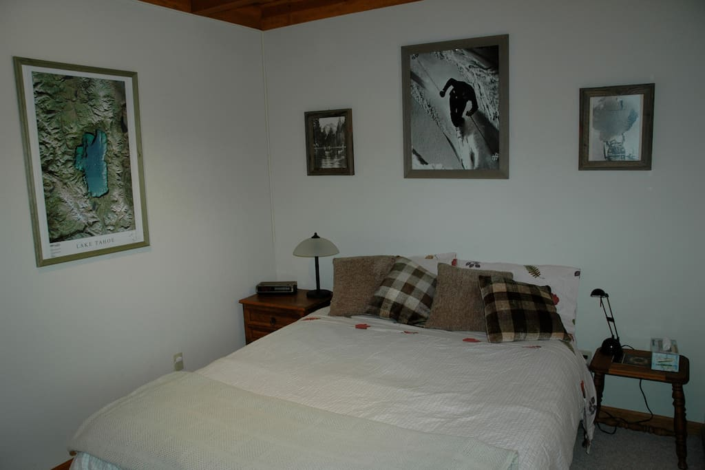 Front White Bedroom with Queen Bed