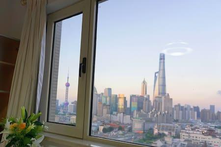 【外滩画幕】Close to everything·豫园(城隍庙)地铁站0距离·俯瞰上海·家庭影院 - Shanghai - Apartment
