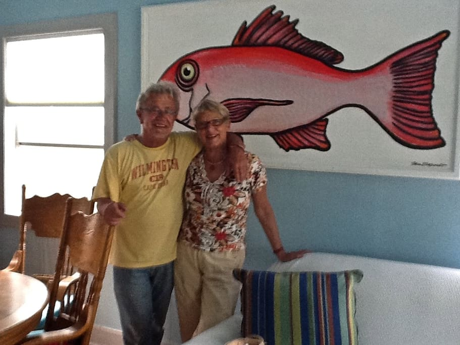 Two happy guests at Snapper Lane Beach House