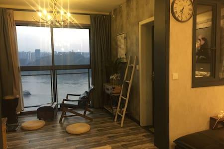 南滨路龙湖郦江品质高档小区loft风格无遮挡全江景房 - Chongqing - Rumah bandar