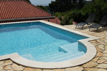 Pool ap. with natural shade terrace near Dubrovnik - Mlini - Apartment