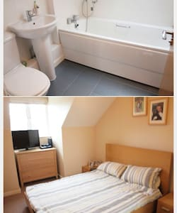 Double bed with en-suite on the top floor - West Wickham