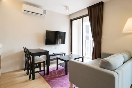 New room 3mins walk to BTS, near Platinum and Siam - Apartamento
