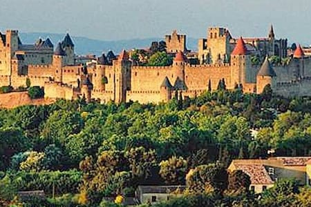 Big house. View on Castle - Carcassonne - Hus
