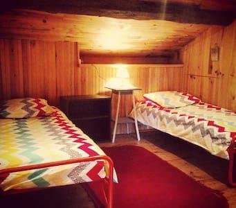 Two single beds in a loft/attic - Loft