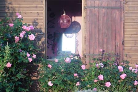 Maison en bois  colorée dans le vignoble de Nantes - Casa
