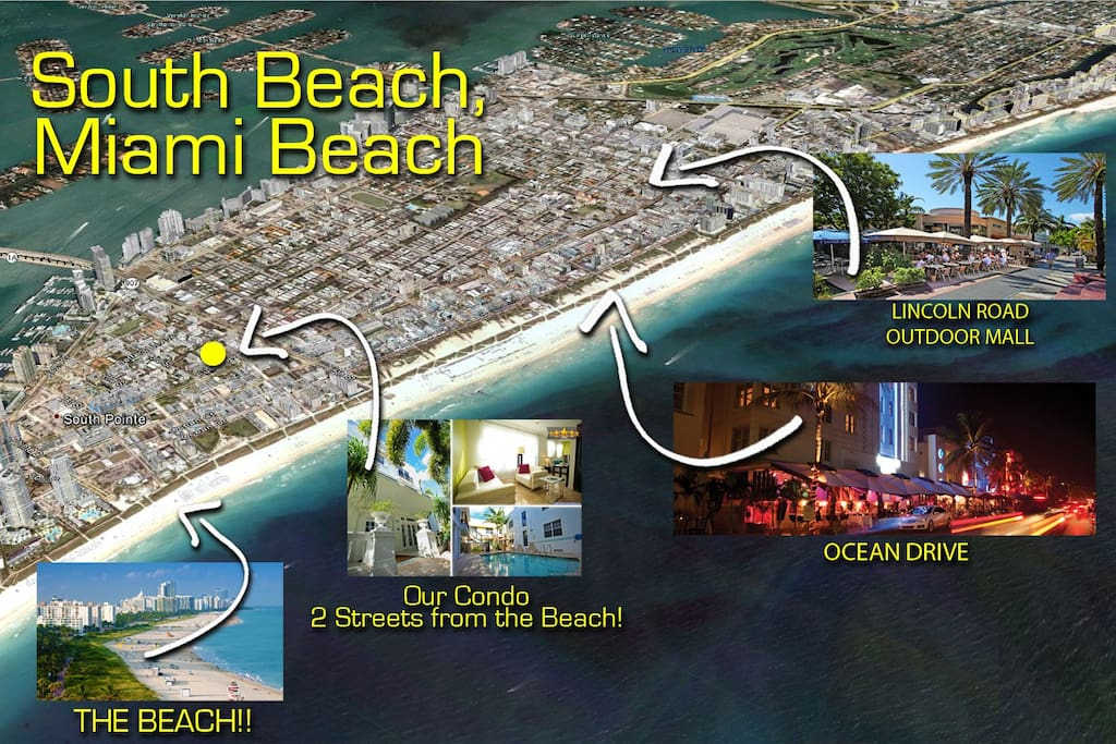 2 streets from the Beach & 2 Streets from all the action that South Beach offers! The South of fifth (SoFi) location is Beautiful, Quiet & Safe.