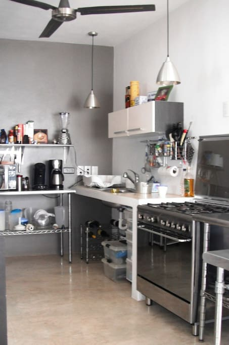 feel free to use our kitchen