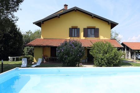 Farmhouse in nature,near Novara,Lakes and Malpensa - Fornaci - Rumah
