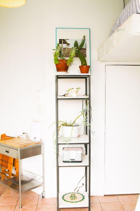 bright studio loft in artsy bldg