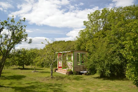 A rustic comfortable cabin in a beautiful orchard - Porchfield - Zomerhuis/Cottage