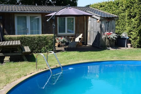 Zwembad aan natuurgebied E&T Heide - Szoba reggelivel