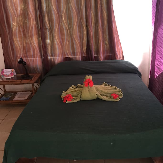 double bed in room 8