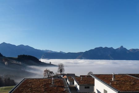 Colorful – near town – over the fog - Goldiwil