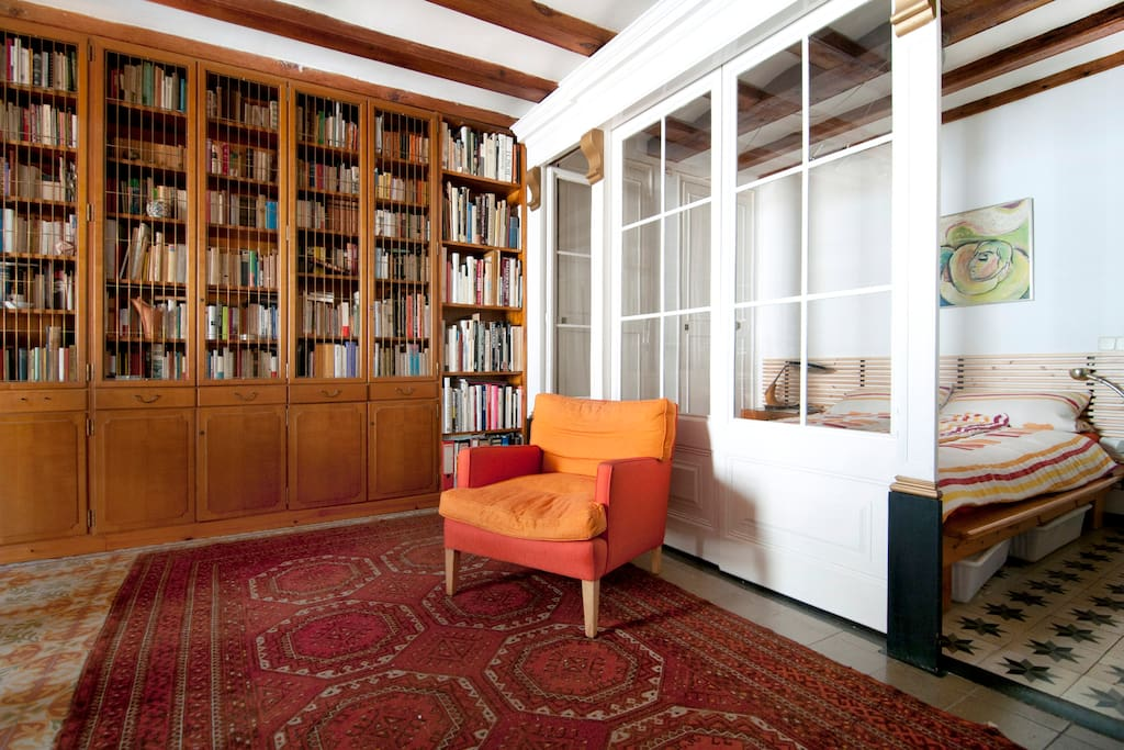 Library with bedroom