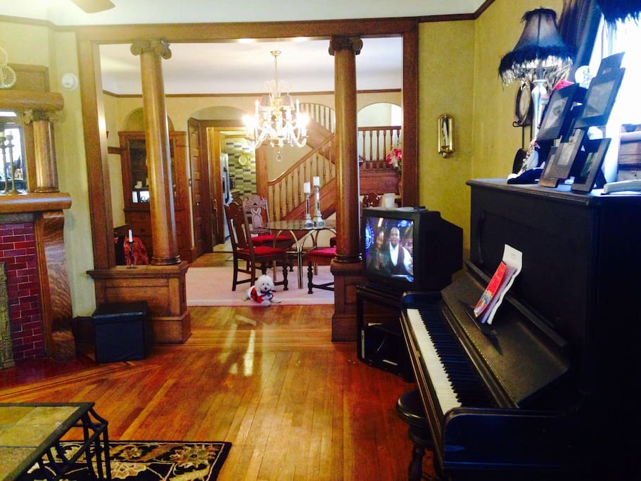 Living room looking into dining room