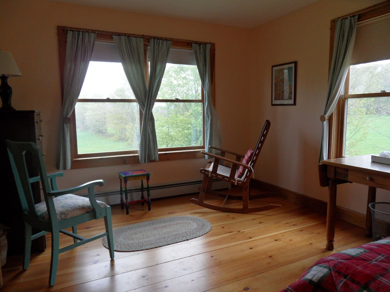 Twin room can be used as a single or double, or simply a sitting room.  Incredible views.