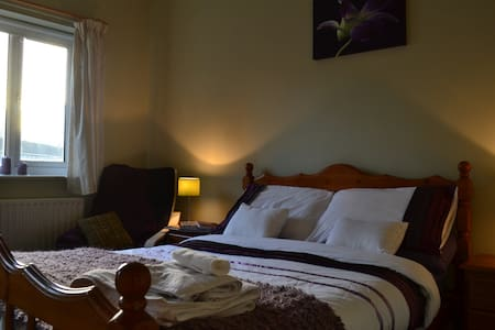 Comfy double room, private bathroom - House