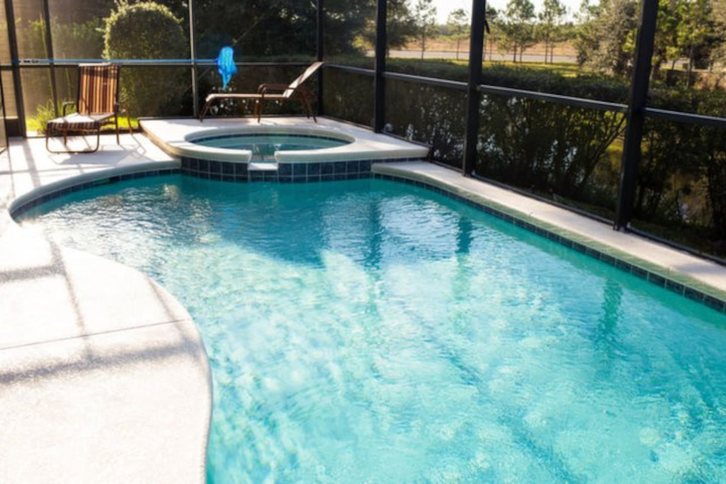Pool deck with sun loungers to enjoy the sunshine state to the fullest!
