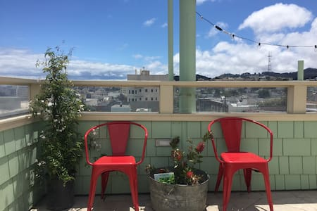 Rooftop terrace overlooking SF - San Francisco - Appartement