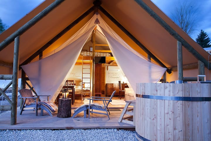 Garden village bled glamping tents tents for rent in bled