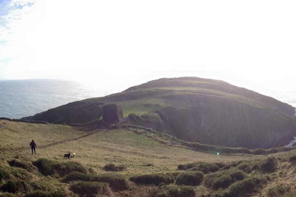 Panoramic view of the headland & watch tower this winter!