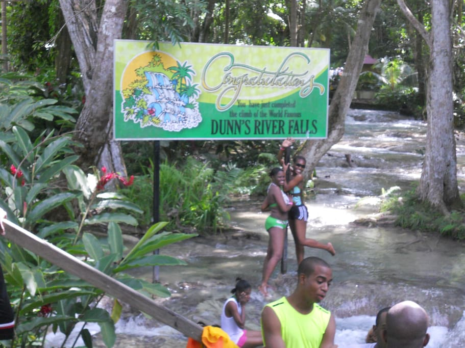 "Come see world famous ""Dunns River Falls"""