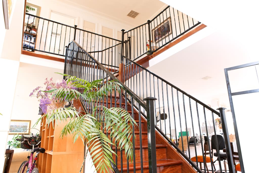 Central Staircase in Beautiful Jarrah Wood