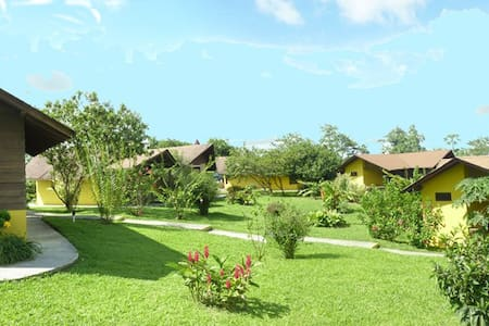 Our 9 mountain cabins are located just at the foot of Arenal Volcano offering great views from any area.