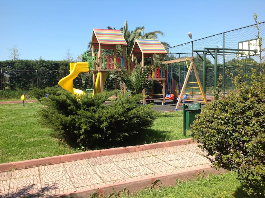 the playground in the garden