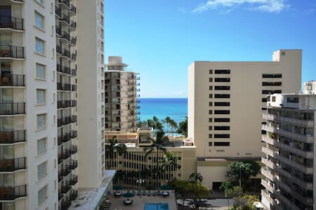1208A Waikiki Studio Big LANAI VIEW - Honolulu - Apartment