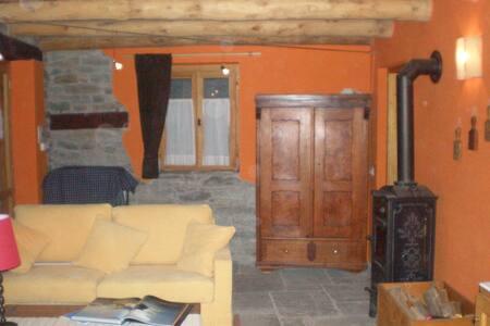 chalet Isolello in legno e pietra - Riva Valdobbia