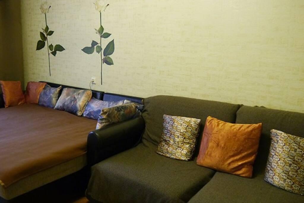 Вторая спальня. Кресла-кровати сложены